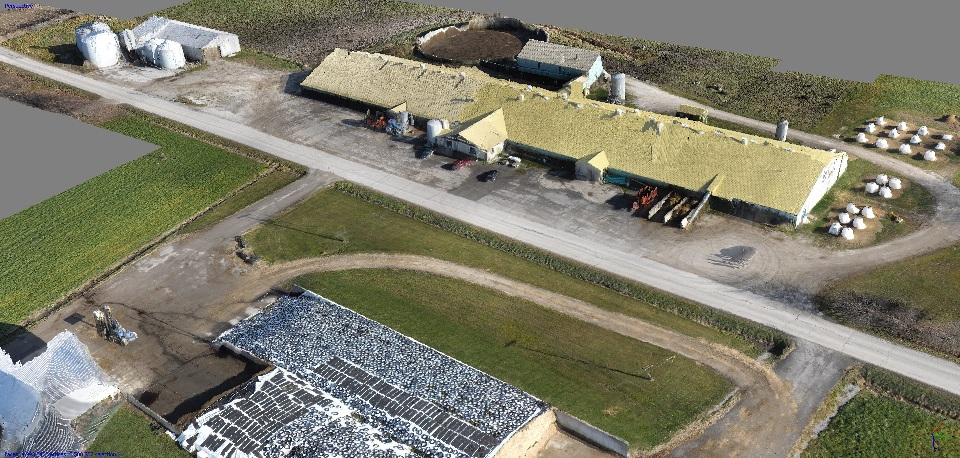 3D model of farm in Canada generated by Micro Aerial Projects using their v-map system