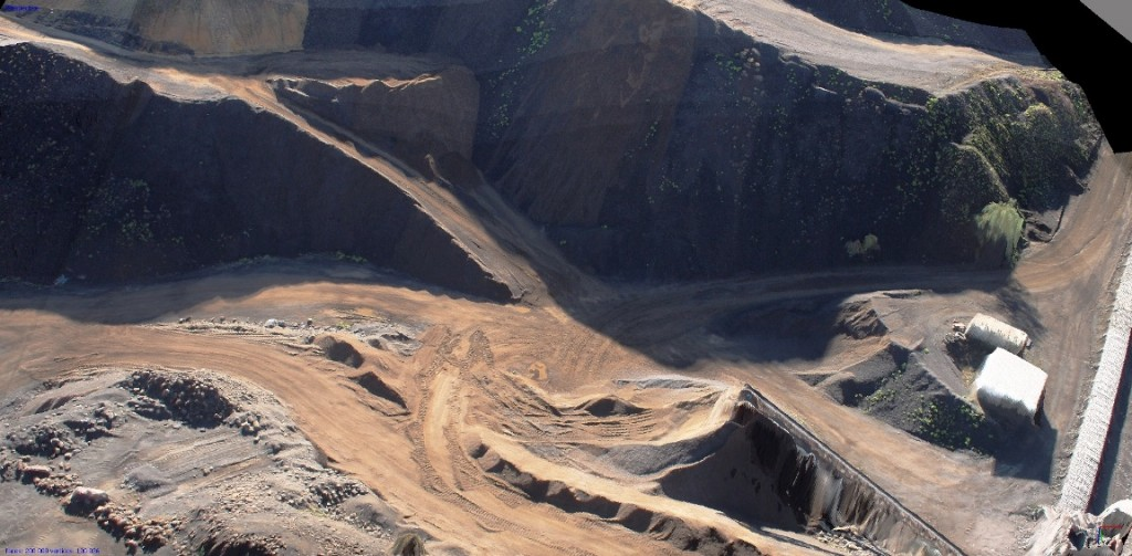 3D model created by Micro Aerial Projects using the v-map system on a European mining project