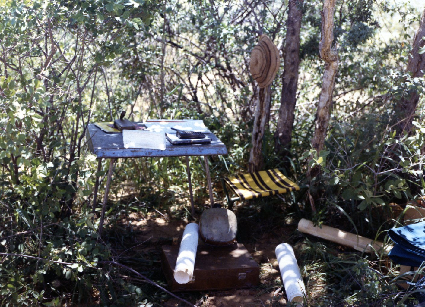 tools for processing survey work on location in Namibia in the 1980's