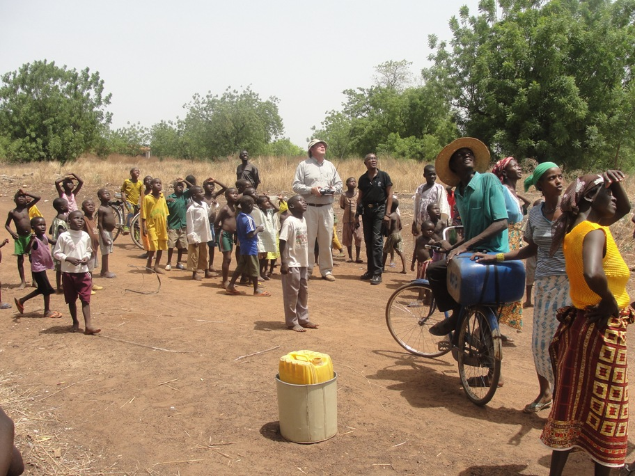 Micro Aerial Projects engaging the community in a uav mapping project, ghana