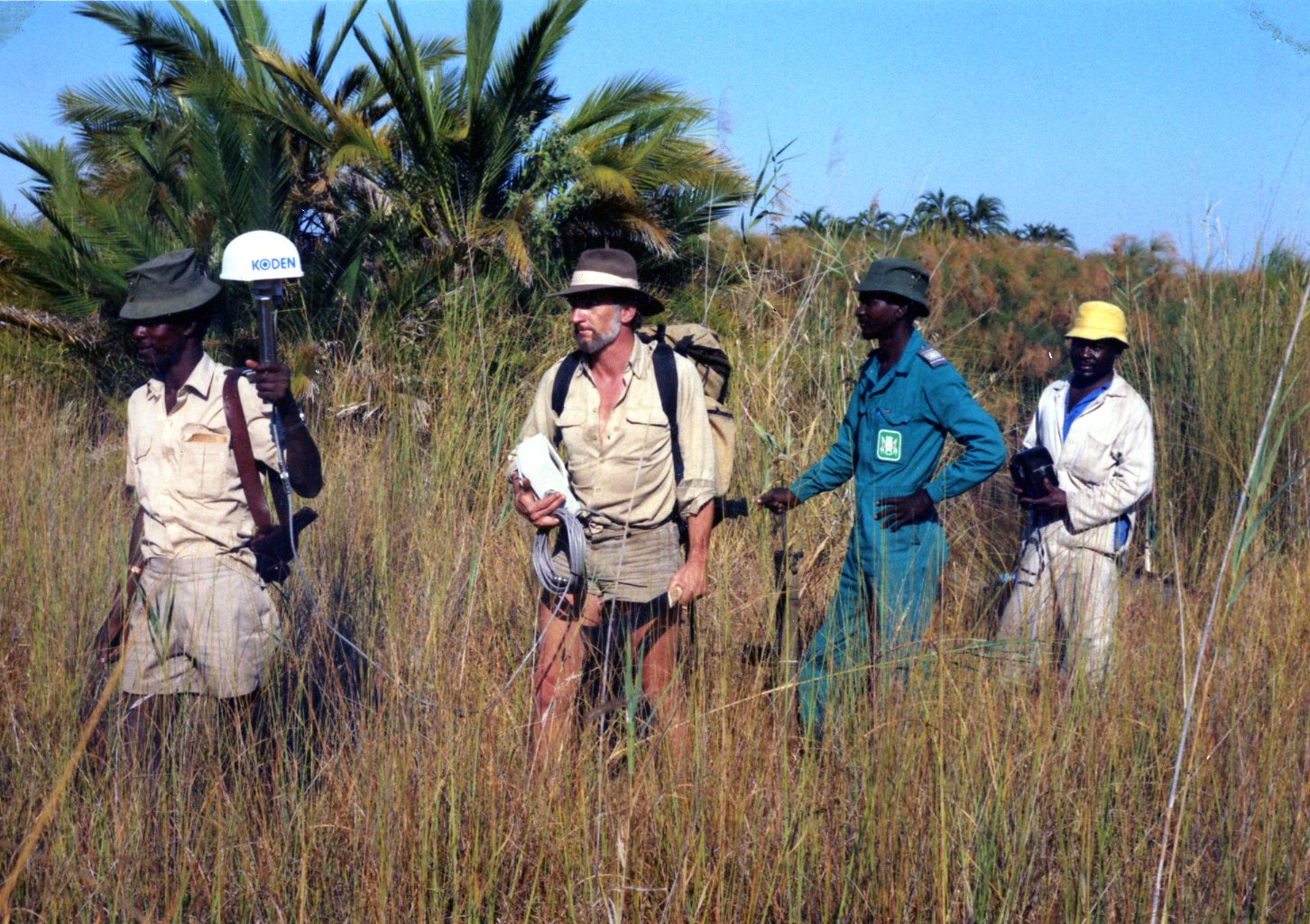early days of surveying with GPS in Africa
