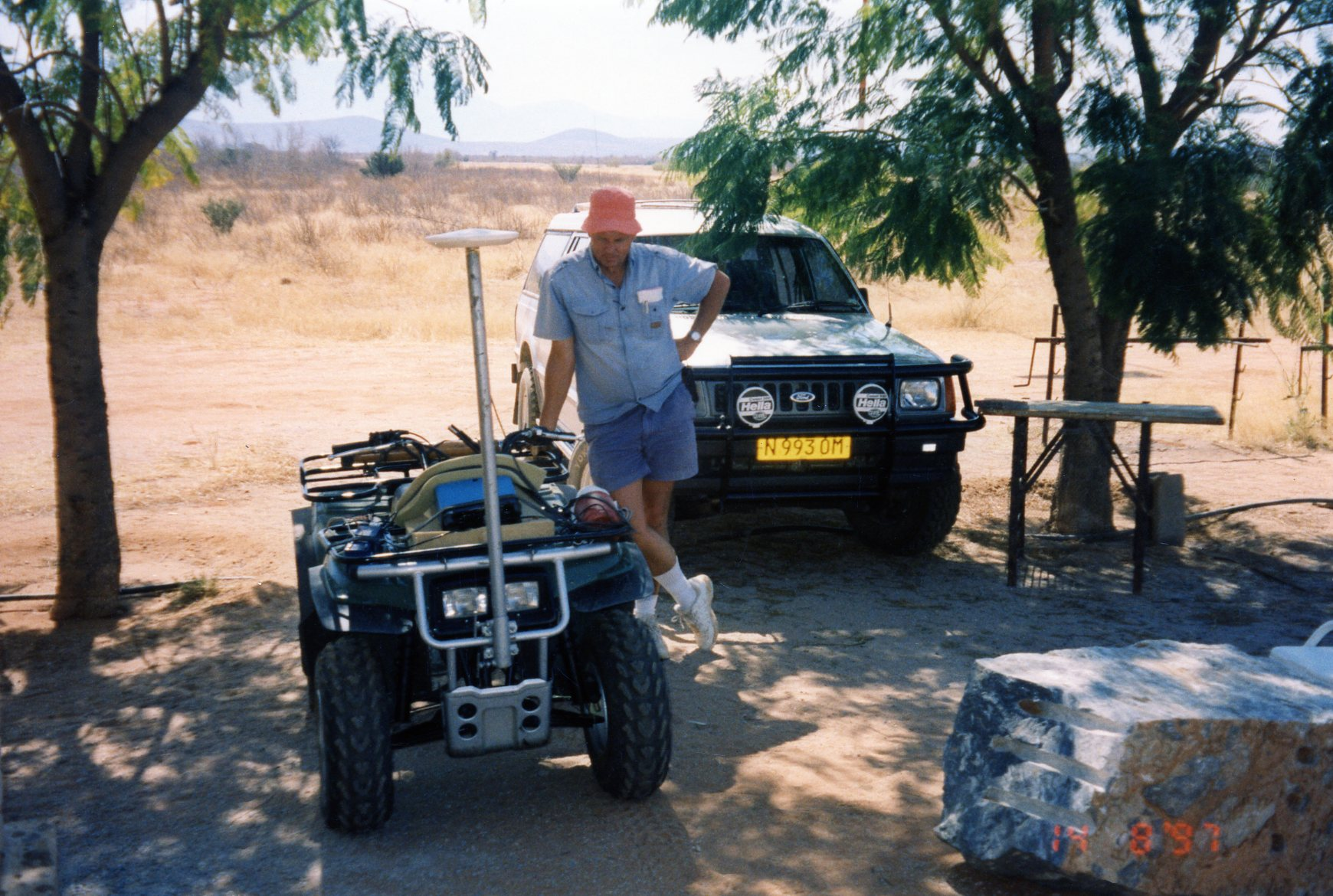 quad bike GPS surveying in Namibia