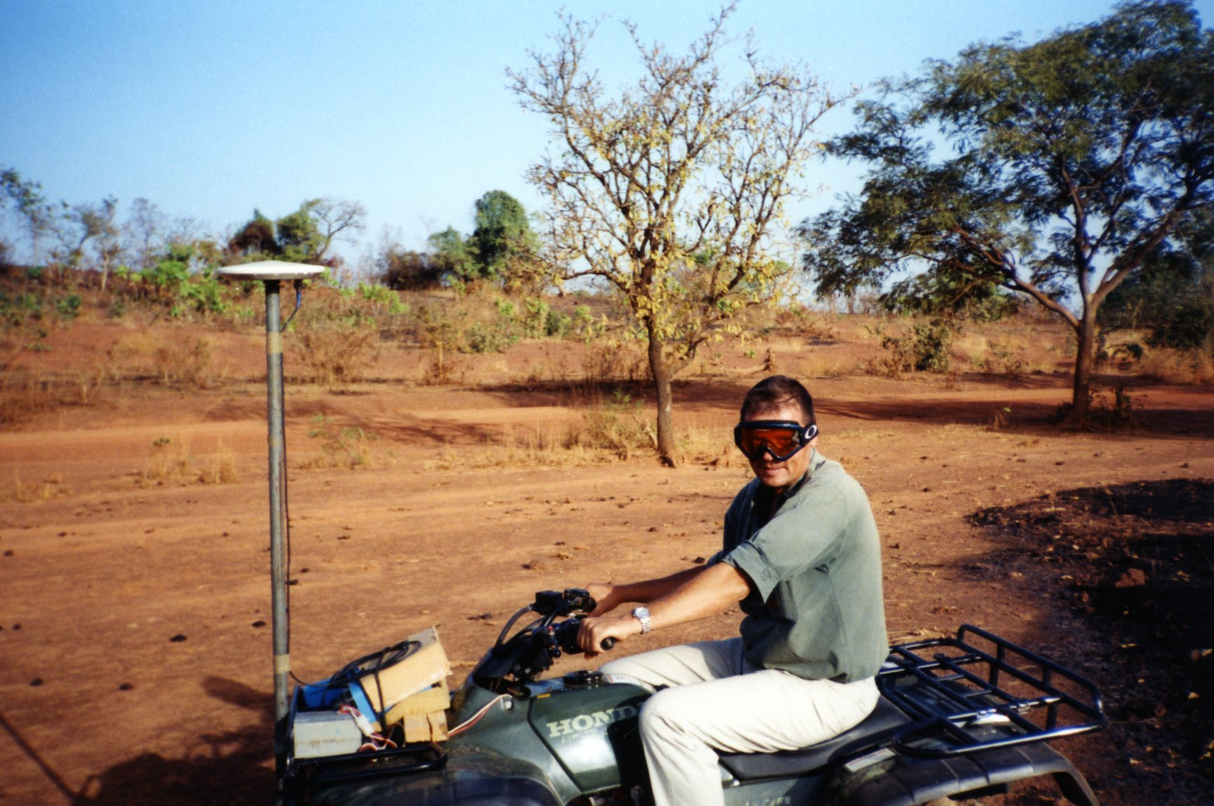 surveying with a quad bike in Africa