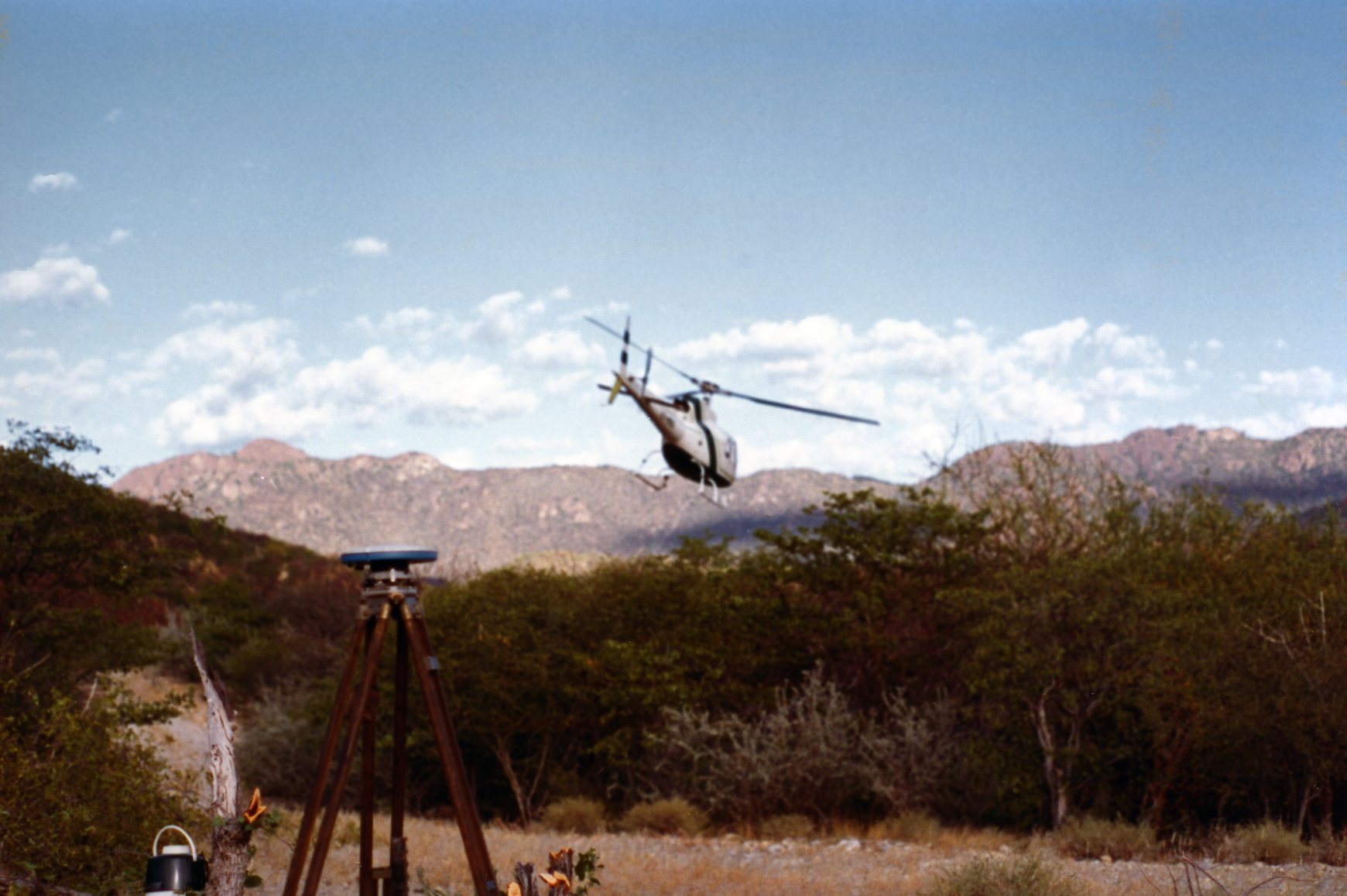 accessing remote areas of Namibia on a survey job using helicopters