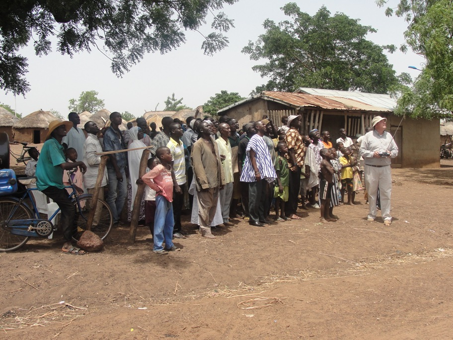 Micro Aerial Projects engaging the community on a uav mapping and land registration project, ghana