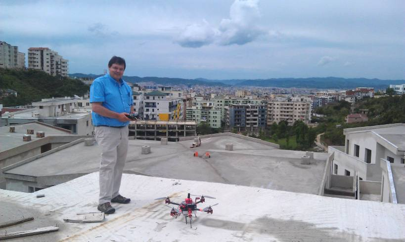 Walter Volkmann of Micro Aerial Projects on a World Bank mapping project using the v-map system in Albania