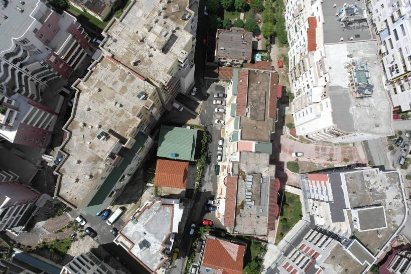 urban density as seen by a small drone on a mapping project done for the World Bank by Micro Aerial Projects