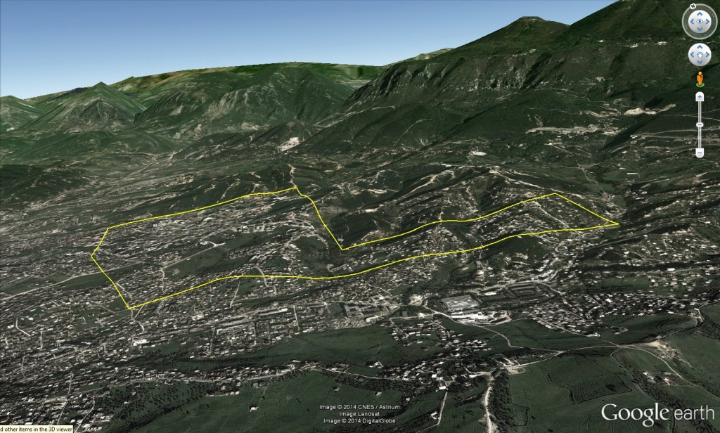 3D view of project area in Albania