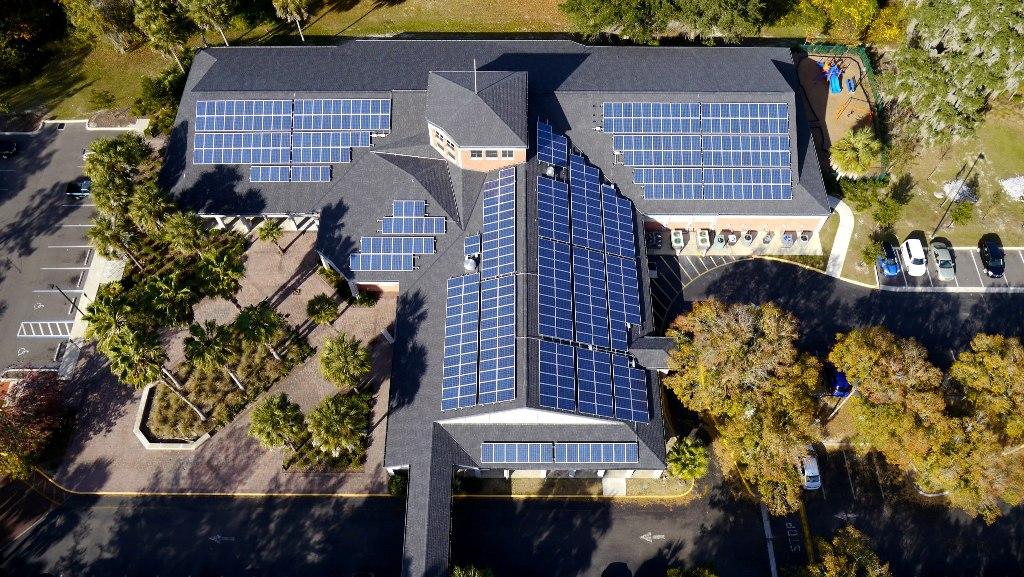 inspecting solar panels