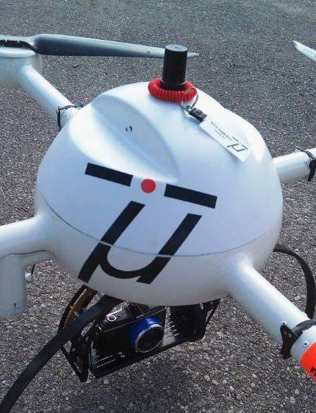 microdrone md4-1000 equipped with V-map system, 2012